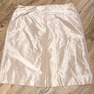 J Crew Gold Silk Taffeta A-Line Skirt Size 10